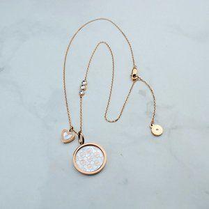 💕Michael Kors Shell Logo Marking Necklace